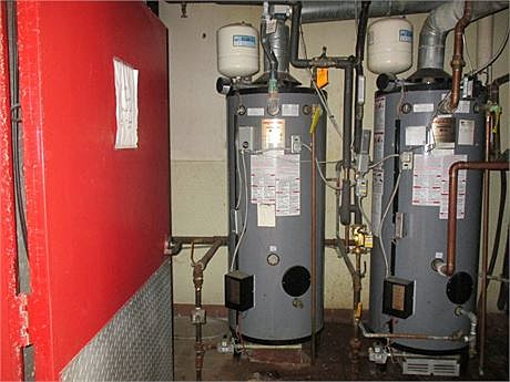 Water heater at TGI-Friday auction.