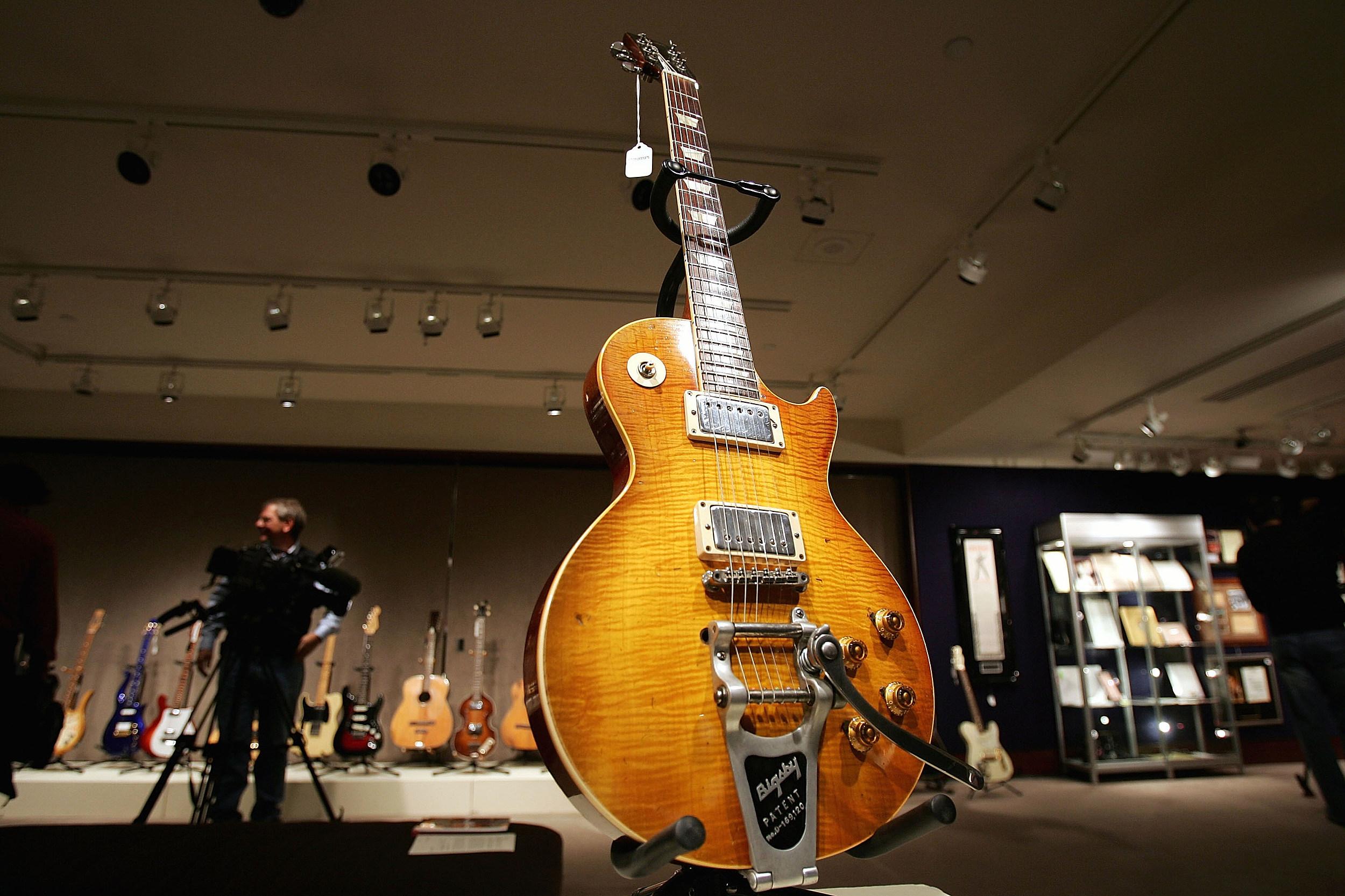 Christies Auctions Off Rock N Roll Memorabilia