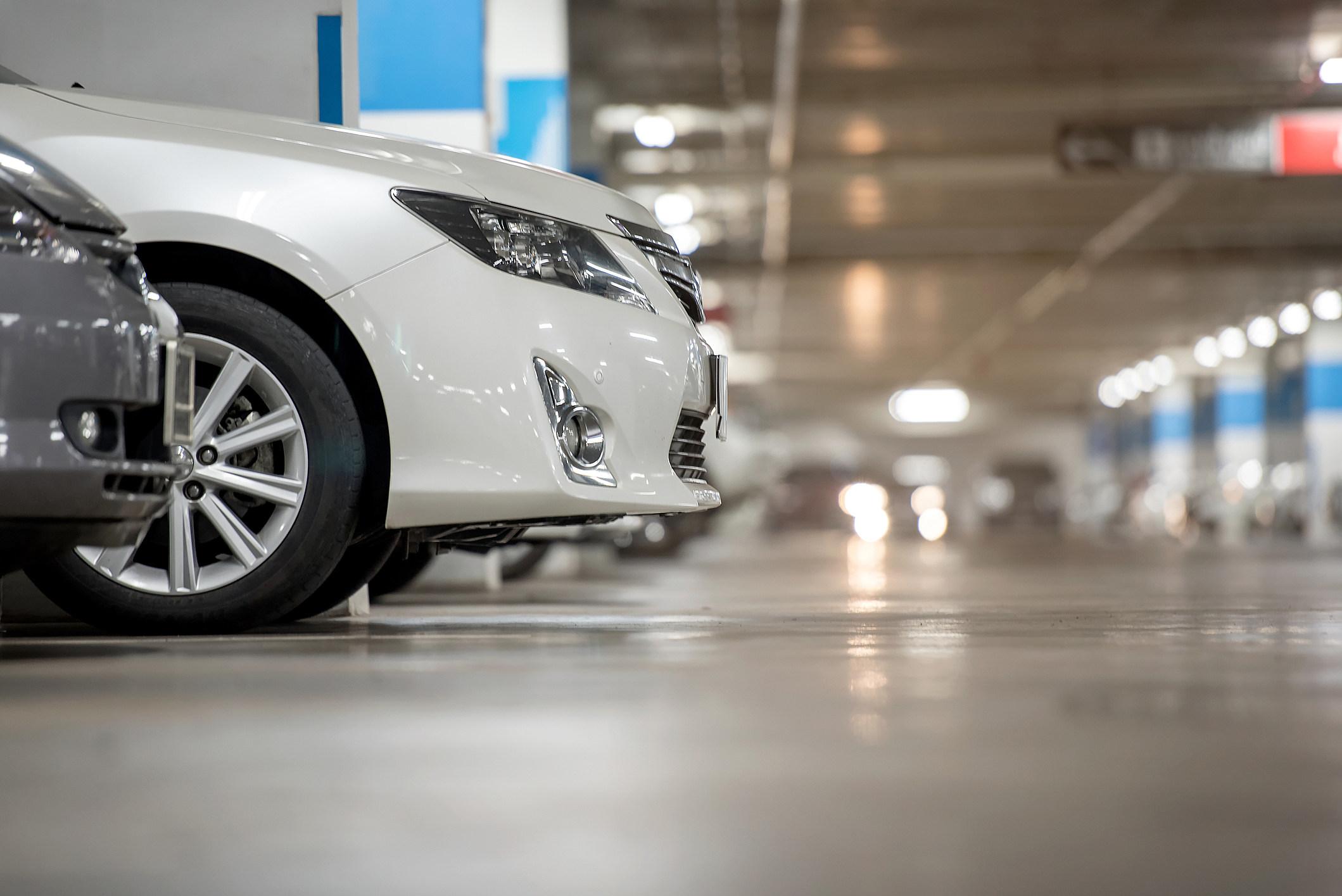 Underground japan white car parking/garage