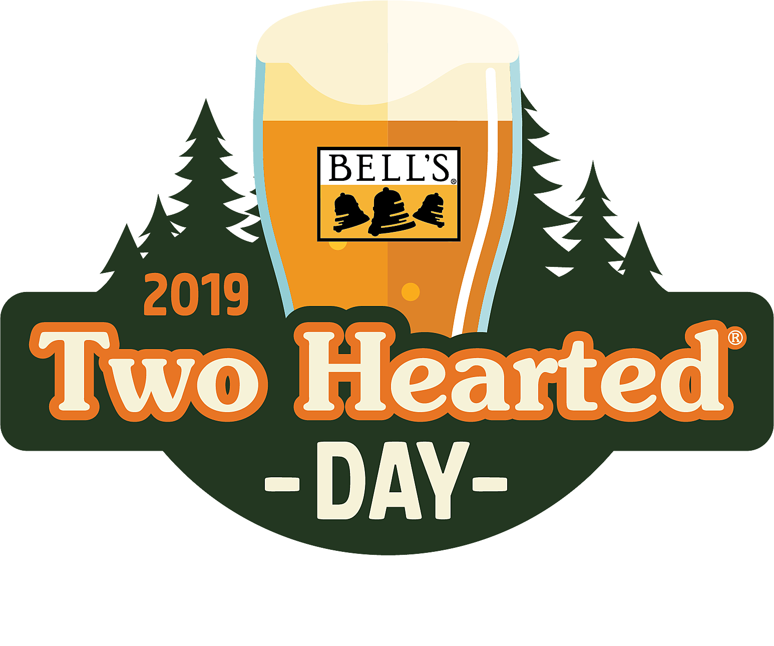 Bell's Two-Hearted Ale anniversary promotional logo (Courtesy Bell's Brewing, Inc.)